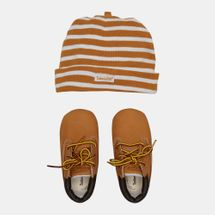 Timberland Kids' Crib Bootie and Hat Set