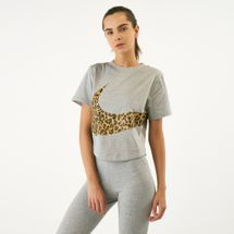 Nike Women's Sportswear Animal Cropped T-Shirt