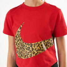 Nike Women's Sportswear Cropped Animal Print T-Shirt, 1541327