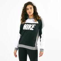 Nike Women's Sportswear Fleece Sweatshirt CREW FLC CB White