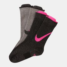 Nike Kids' Lightweight Swoosh Crew Socks (2 Pairs) (Older Kids)