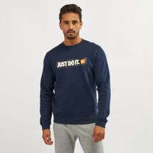 Nike Sportswear Fleece Crew Sweatshirt Blue