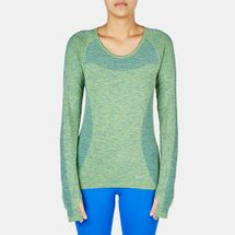 Nike Dri-FIT Knit Long Sleeve T-Shirt Blue