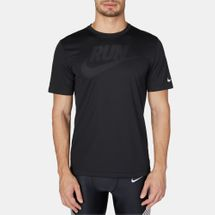 Nike Dri-FIT Graphic Print T-Shirt Black
