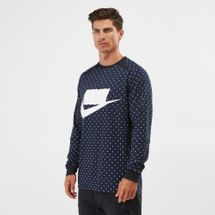 Nike Sportswear Long-Sleeve Fleece Sweatshirt, 1208431