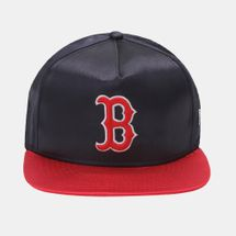 New Era MLB Team Satin Boston Cap - Blue, 181706