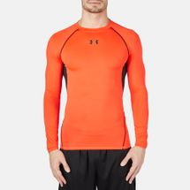 Under Armour HeatGear® Long Sleeve Compression T-Shirt Red