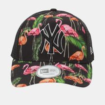 New Era Tropical Trucker NY Yankee Cap - Black, 181778