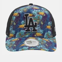 New Era Tropical Trucker LA Dodger Cap Black