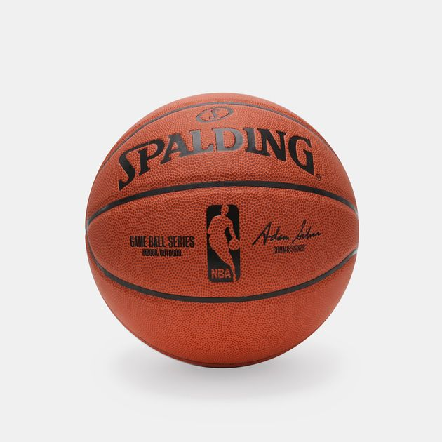 Shop Orange Spalding NBA Replica GameBall Indoor Outdoor Basketball ... 5363b33db