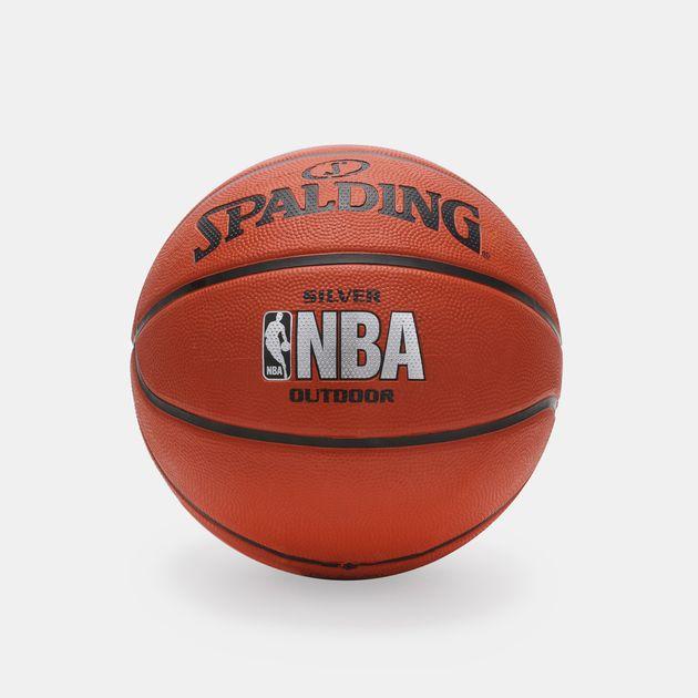 Spalding NBA Silver Outdoor Basketball - Orange