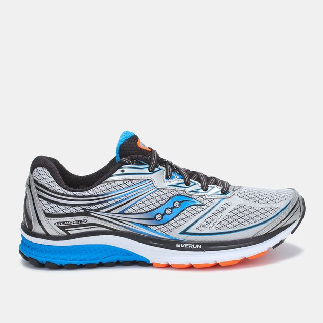 ce0a8f14f758 Shop Grey Saucony Guide 9 Running Shoe for Mens by Saucony