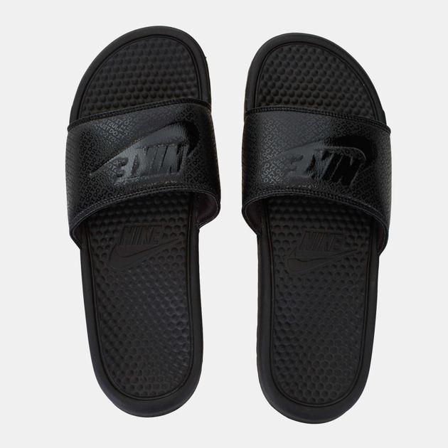 7ae2fc63392b Shop Black Nike Benassi Sliders for Mens by Nike