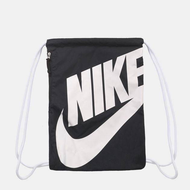 new concept d4e00 aba80 Nike Heritage Gymsack - Black, 389488