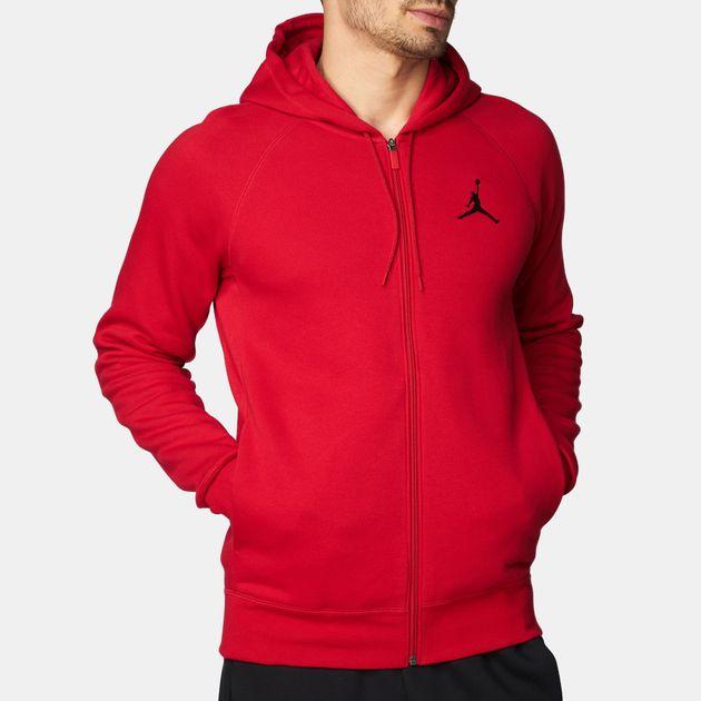 a78498e6 Shop Red Jordan Flight Fleece Full Zip Hoodie for Mens by Jordan | SSS