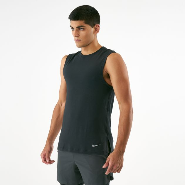 real deal selected material quality and quantity assured Nike Men's Dri-FIT Yoga Training Tank Top