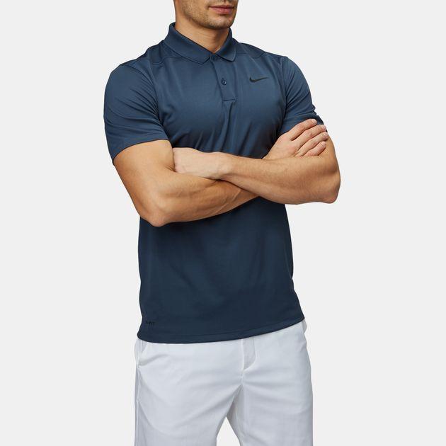 bcc330ca2 Shop Blue Nike Golf Dry Victory Slim Polo T-Shirt for Mens by Nike ...