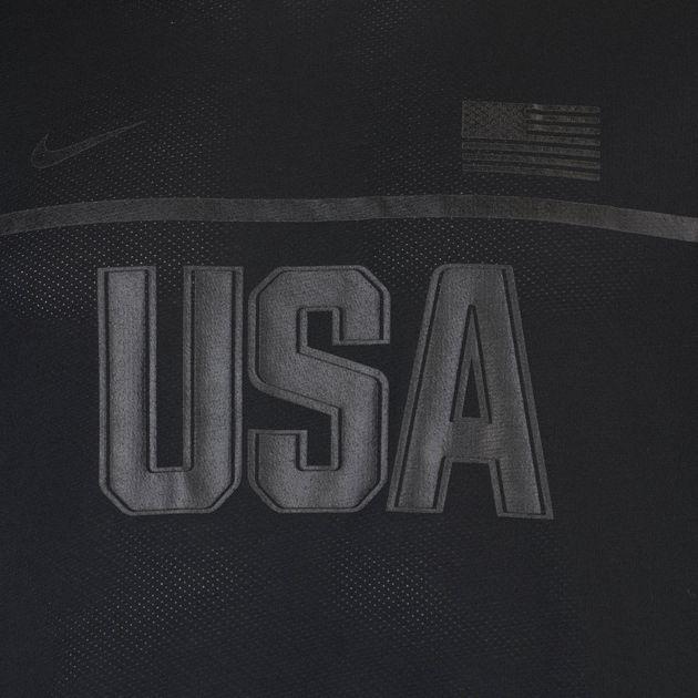 d5352489b175 Shop Black Nike Dry Energy USA Short Sleeve Running T-Shirt for Mens ...