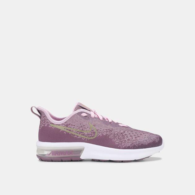 Shop Purple Nike Kids  Air Max Sequent 4 Shoe (Grade School Girls ... 8300e7357b86