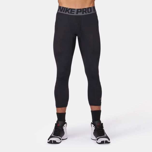 74aa1a1425c4 Shop Black Nike Pro Hypercool ¾ Basketball Tights for Mens by Nike