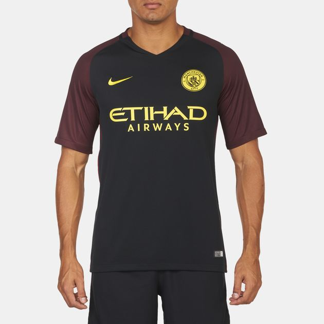 detailed look fd0df 86749 Shop Black Nike Manchester City FC Away Stadium Jersey for ...