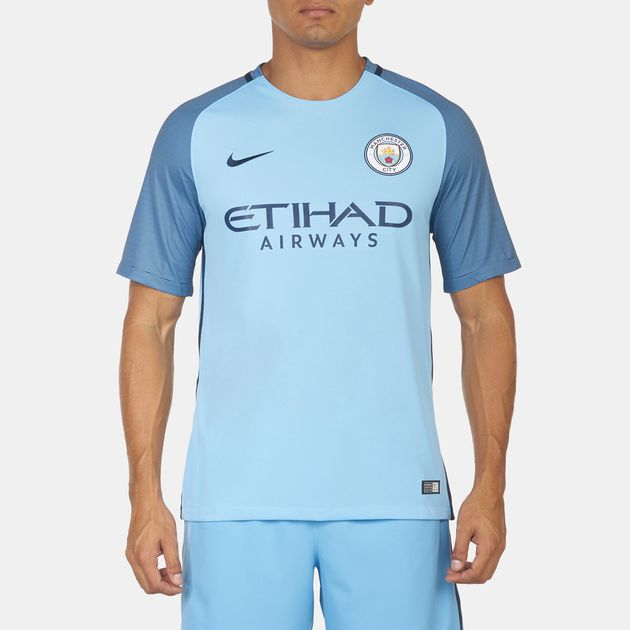 best sneakers 9b927 d239e Shop Blue Nike Manchester City FC Home Match Jersey for Mens ...