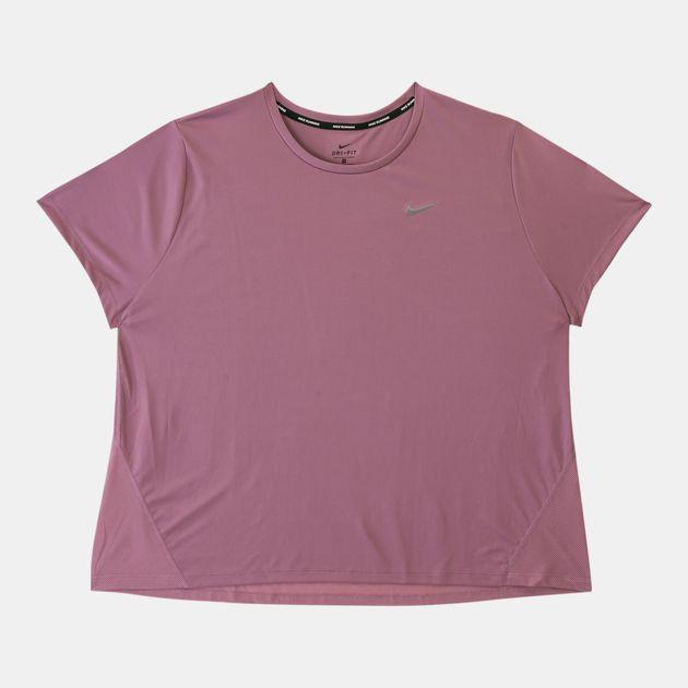 111a15b84 Nike Women's Miler Running T-Shirt (Plus Size)   T-Shirts   Tops ...