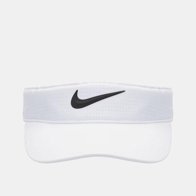 Shop White Nike AeroBill Golf Visor for Womens by Nike Golf  f8defe43073