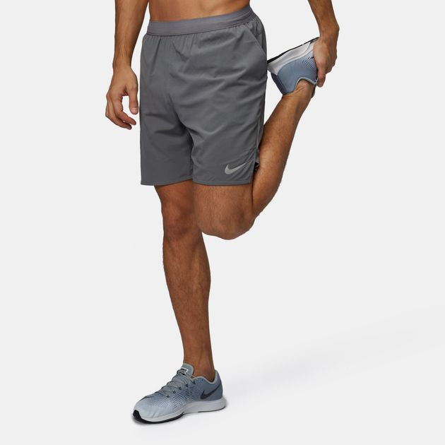 """52a748957a1b0 Shop Grey Nike Distance 7"""" Lined Running Shorts for Mens by Nike 