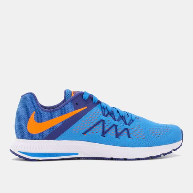 huge discount c67c9 ff35c Shop Blue Nike Zoom Winflo 3 Shoe for Mens by Nike | SSS
