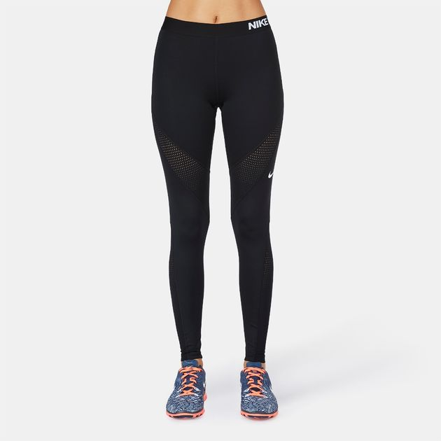 Shop Black Nike Pro Hypercool Tidal Leggings for Womens by
