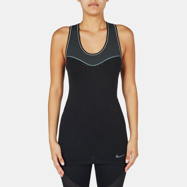 e390ef0b6fc79 Shop Black Nike Pro Hypercool Limitless Tank Top for Womens by Nike ...