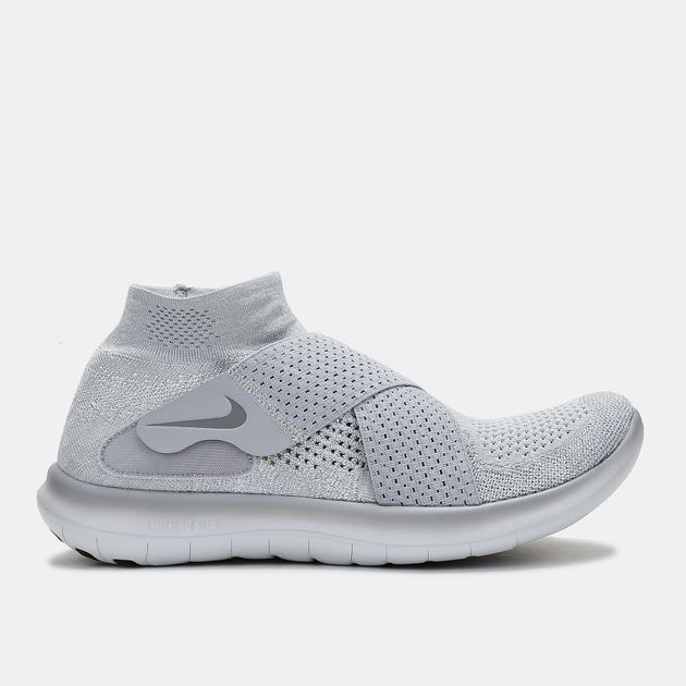 90d9f40b29805 Shop Grey Nike Free RN Motion Flyknit 2017 Running Shoe for Mens by ...