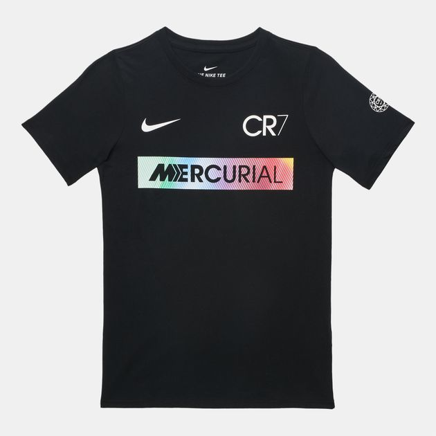 sports shoes 2fb48 3a051 Shop Black Nike Kids' Ronaldo Mercurial T-Shirt for Kids by ...