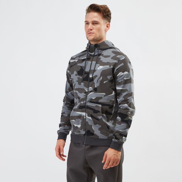 f7e31fdb2 Grey Nike Sportswear Club Fleece Camo Hoodie | Hoodies | Hoodies and ...