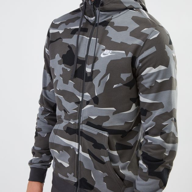 Nike Full zip Camo Hoodie Online Nike Sportswear Club
