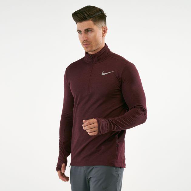 Nike Men's Therma Sphere 12 Zip Running Top