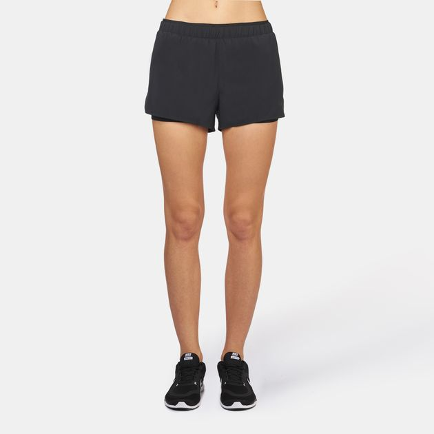 2f44df0e2a Shop Black Nike Full-Flex 2-in-1 Training Shorts for Womens by Nike ...