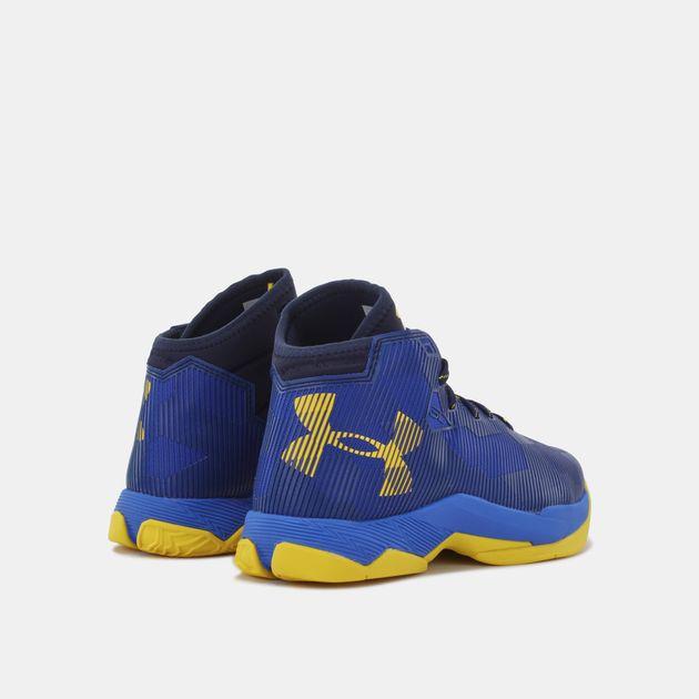 d4c66720d5b7b Shop Blue Under Armour Kids' Grade School UA Curry 2.5 Basketball ...