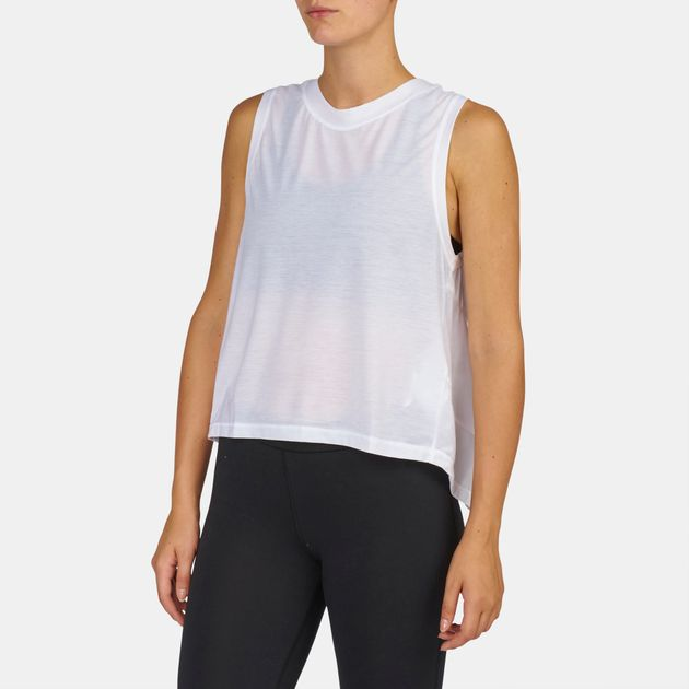 24300bf0 Shop White Under Armour Breathe Muscle Tank Top for Womens by Under ...