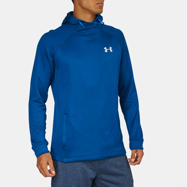 5abf3256562b Shop Blue Under Armour Tech™ Popover Hoodie for Mens by Under Armour ...