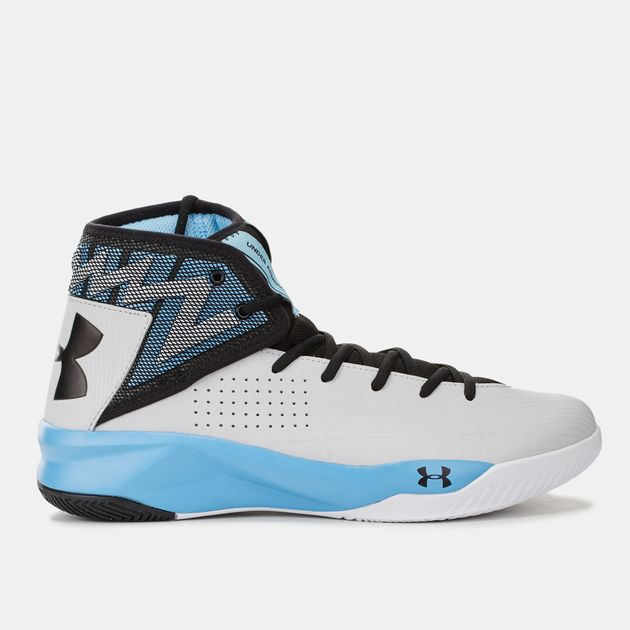 dc1a9f62dc38 Shop White Under Armour Rocket 2 Basketball Shoe for Mens by Under ...