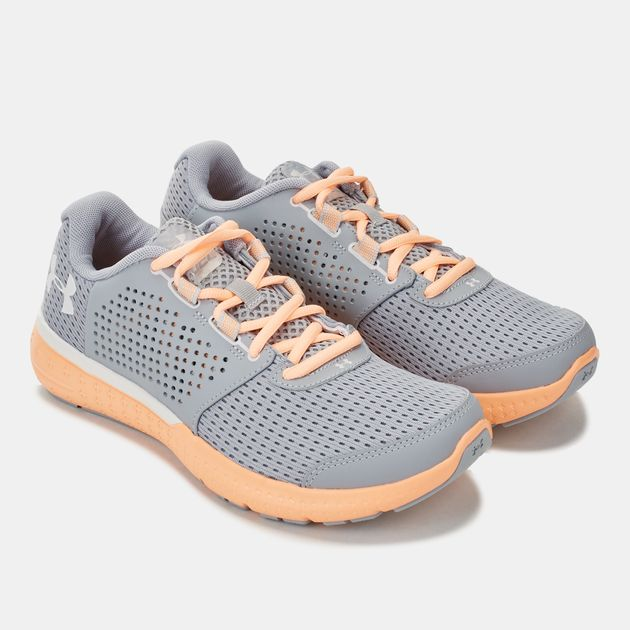sports shoes 0a064 d6343 Shop Grey Under Armour Micro G Fuel Running Shoe for Womens ...