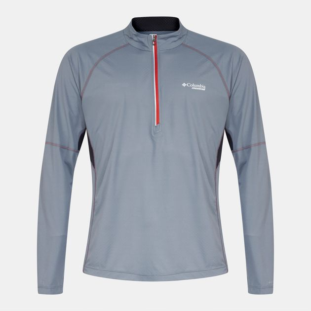 Shop Grey Columbia Titan Ultra™ Half-Zip Long Sleeve T-Shirt for ... 9d00f1790