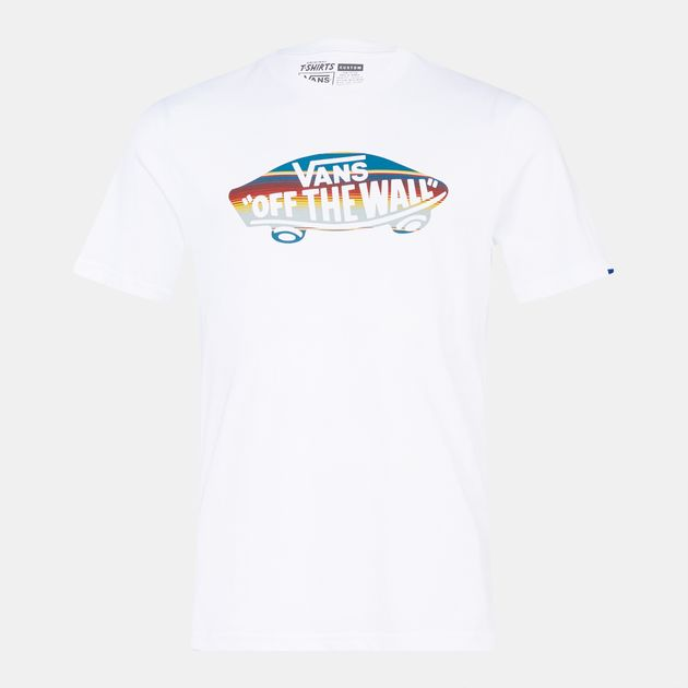 aa29676d17f Shop White Vans OTW Logo Fill T-Shirt for Mens by Vans