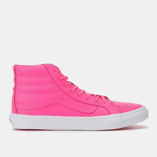 4ab8e374cd Shop Pink Vans SK8-Hi Slim OMG WTF Shoe for Womens by Vans