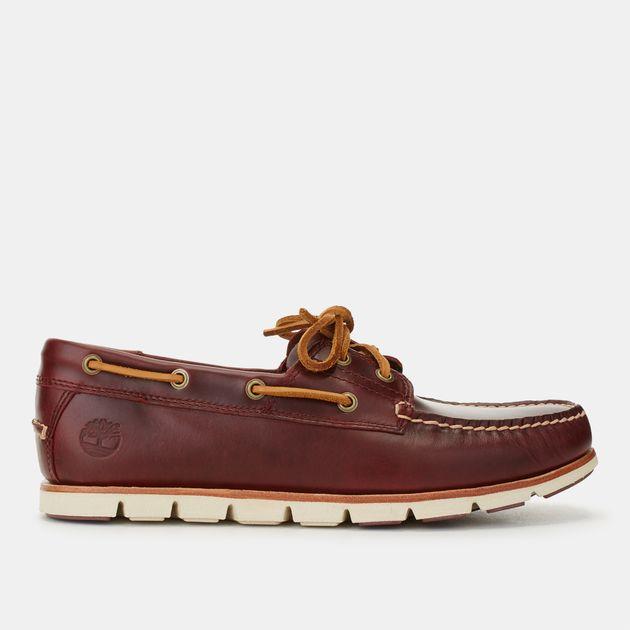 Shop Red Timberland Tidelands 2 Eye Moc Shoe for Mens by