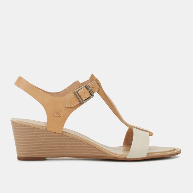 Shop Beige The Timberland Sibbern T Strap Sandals for Womens