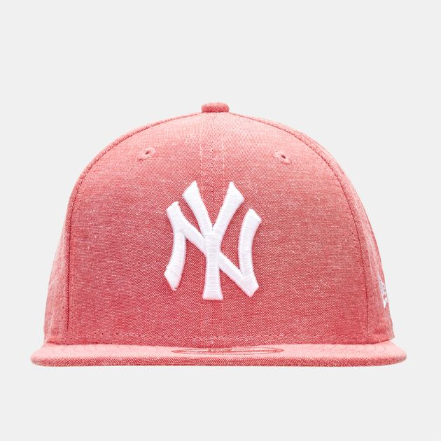 187d9d0dbd8a1 Shop Red New Era MLB Oxford Lights New York Yankees Snapback Cap for ...