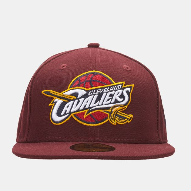 87d90783f242bf Shop Red New Era NBA Logo Cleveland Cavaliers 59FIFTY Cap for Unisex ...